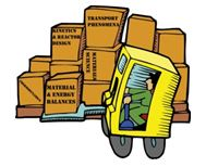 clipart of forklift with boxes