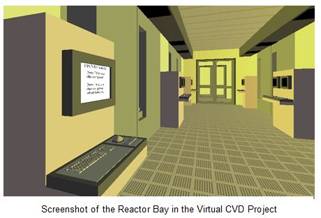 Screenshot of Reactor Bay in Virtual CVD Project