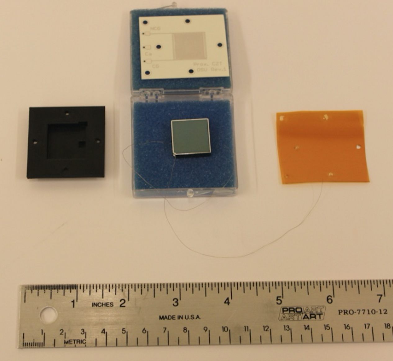 Components of the proximity charge sensing CZT detector