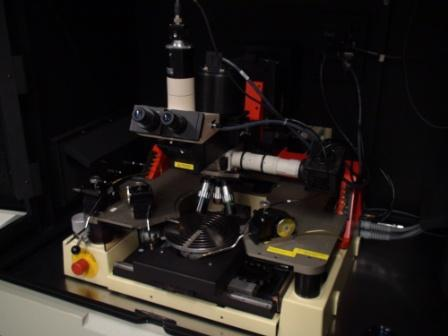 Picture of the PA 200 probe station in the Owen characterization lab.