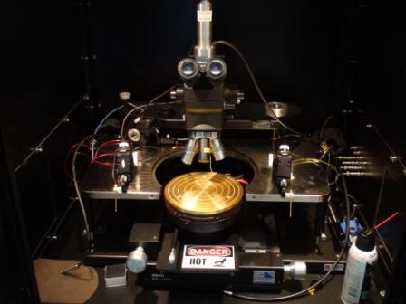 Picture of the REL 4800 probe station in the Owen characterization lab.