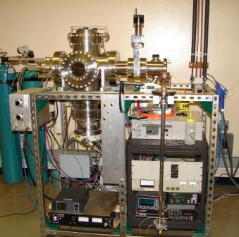 OSU constructed radio frequency sputter system located in Dr. Gibbon's lab.